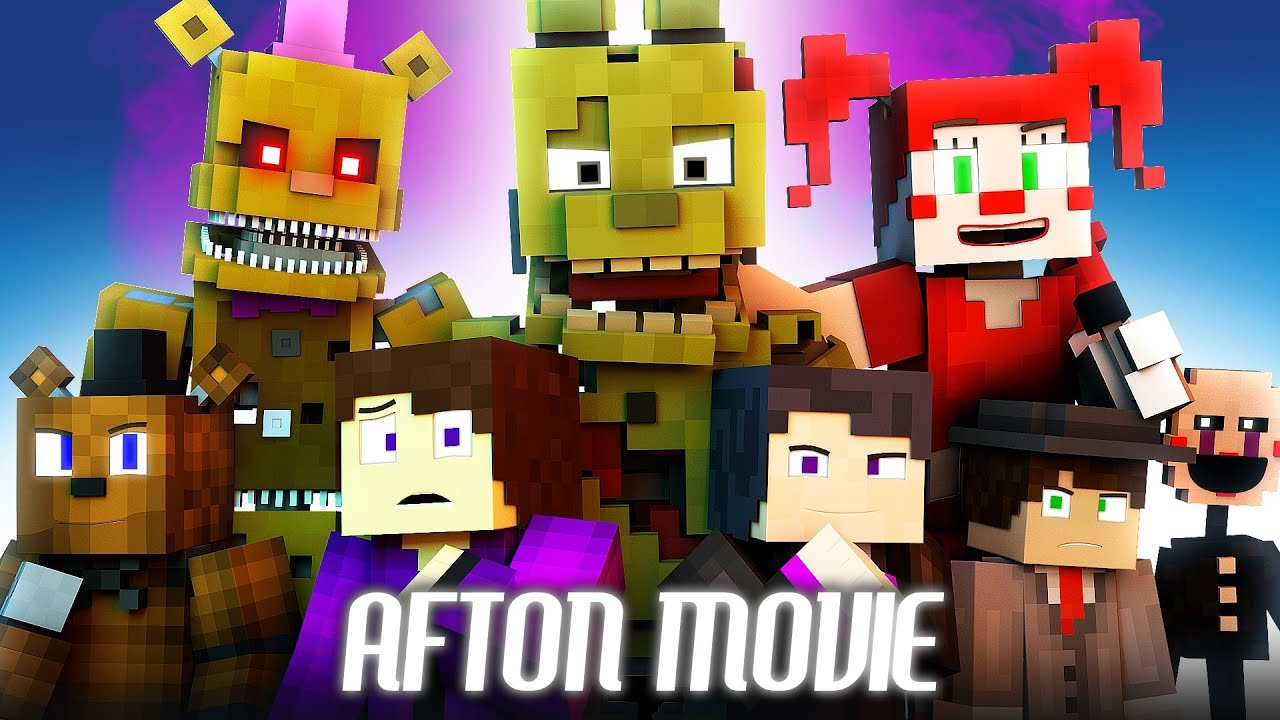 """AFTON - Full Movie"" FNAF Minecraft Music Video Series 