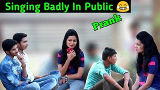 #singingbadlyinpublic #latur Singing Badly In Public | Prank In India | Mad Prank.