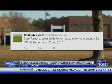 Harnett County Schools investigating '#WhiteSupremacy' tweet from student group account