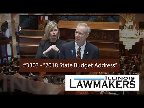 Illinois Lawmakers #3303 - 2018 State Budget Address