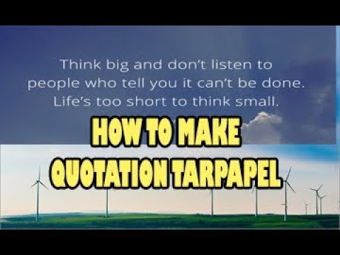 How to make Tarpapel Quotation using Microsoft Publisher 2016