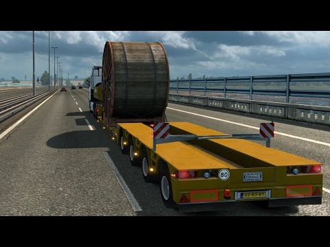 Euro Truck Simulator 2 - Industrial Cable Reel - Heavy Cargo Gameplay (PC HD) [1080p60FPS]