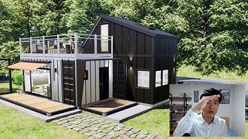 15평 컨테이너하우스_다락이 있는 모듈러 주택_끝판왕 세컨하우스