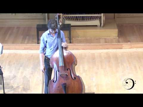 Scott Dixon, Double Bass, Bach Cello Suite #2 and Scodanibbio