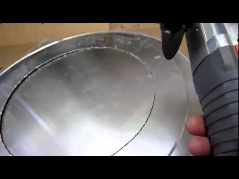 How To Cut A 12inch30 5cm Diameter Hole Out Of A Aluminum