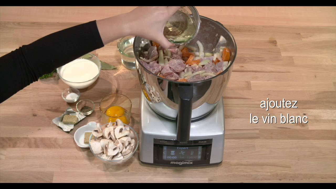 blanquette de veau cook expert magimix youtube. Black Bedroom Furniture Sets. Home Design Ideas