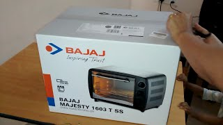 Bajaj Majesty 1603 T SS Oven Toaster Grill (OTG) Unboxing