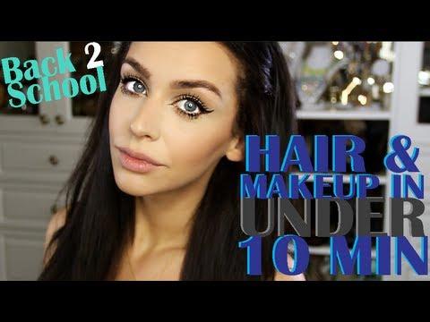 BACK 2 SCHOOL | EASY Hair & Makeup in 10 MIN!