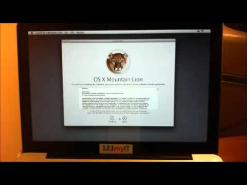 How To Do A Clean Install Of OSX Mountain Lion From A DVD.