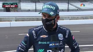 Fernando Alonso on his Practice Run at 104th Indy 500