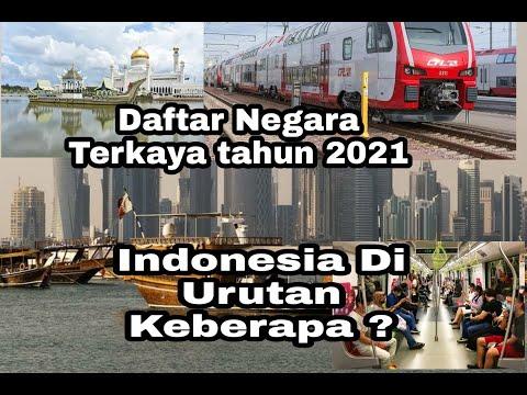 Negara Terkaya Tahun 2021, Indonesia Di Urutan Keberapa ??