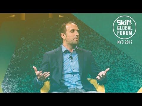 Vacasa CEO Eric Breon at Skift Global Forum 2017