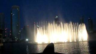 Dubaï fountain show in front of Burj Khalifa in 2009