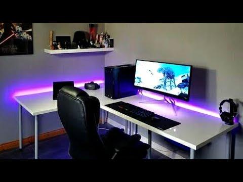 Luces al ritmo de la música   tiras LED   espacio de trabajo moderno