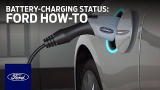 Ford Electric Vehicles: Viewing Battery-Charging Status | Ford How-To | Ford