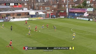 GOALS: York City 5-0 Ashton Athletic (22/09/2018)