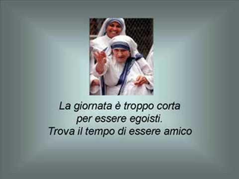 Poesie E Pensieri Di Madre Teresa Youtube