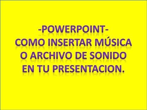 Como insertar audio en powerpoint para enviarla por email.