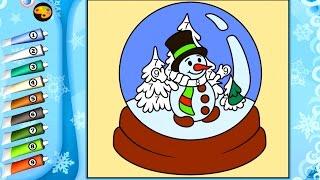 Новогодние раскраски по номера (цифрам).  Игра раскраска - обзор развивающего приложения для детей