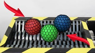 Experiment Shredding Anti Stress Balls Satisfying | The Crusher