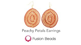 Learn how to create the Peachy Petals Earrings by Fusion Beads