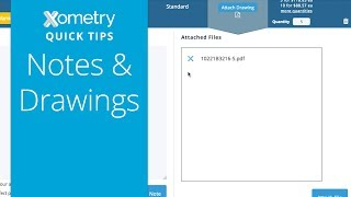 Xometry Quick Tips: Notes & Drawings