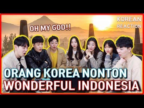 Teman Orang Korea Pertama Kali Nonton Wonderful Indonesia : A Visual Journey | Korean Reaction