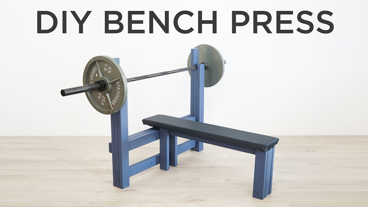 Diy Bench Press How To Make A Weight Bench Youtube