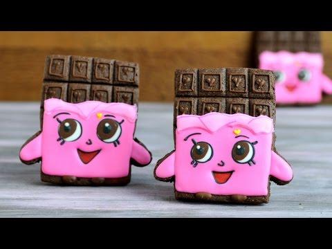 SHOPKINS CHEEKY CHOCOLATE BAR COOKIES HANIELAS