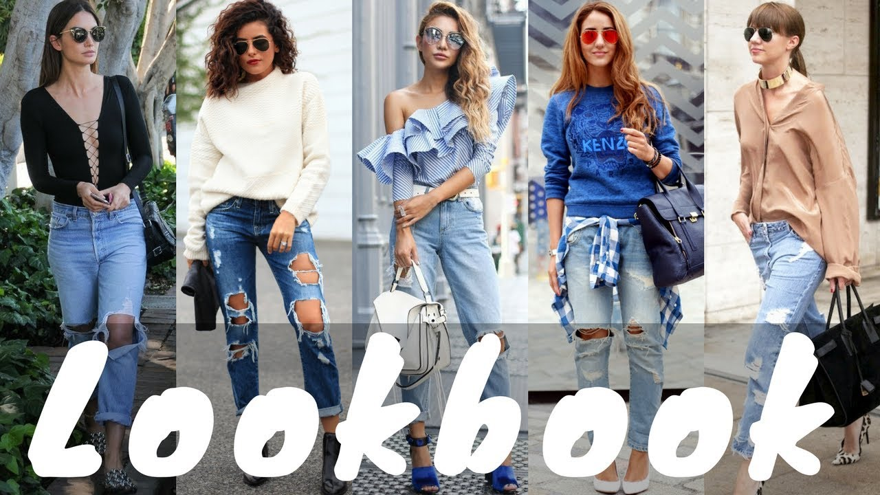 Latest Ripped Boyfriend Jeans Outfit Ideas for Spring 2018 | Spring Fashion Lookbook 8