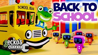Back To School With Gecko!|Kids Songs And Stories|Learning Videos For Toddlers|Gecko's Garage|Trucks