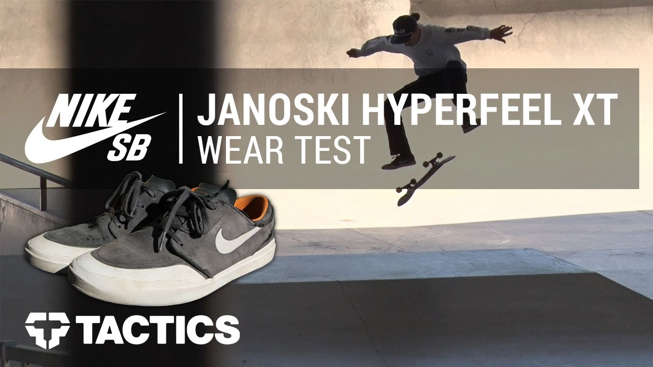 d86f00ff61a2 Nike SB Stefan Janoski Hyperfeel XT Skate Shoes Wear Test Review -  Tactics.com - YouTube