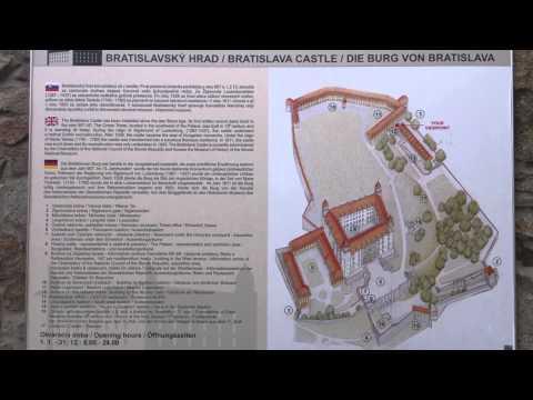 Bratislava Castle map, Slovakia - Augen