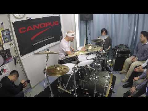 Jotan Afanador Amazing Drum Groove & Solo @ Canopus Tokyo Japan 2016