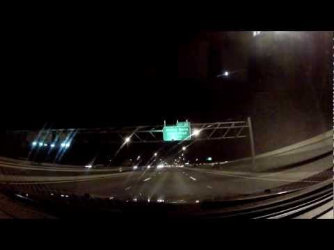 Driving through Orlando Florida at night I-4 (Interstate 4) westbound HD 1080p