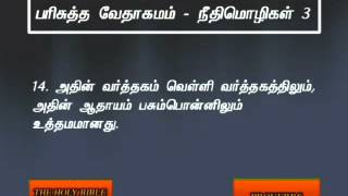 Proverbs 3 Tamil Video Bible