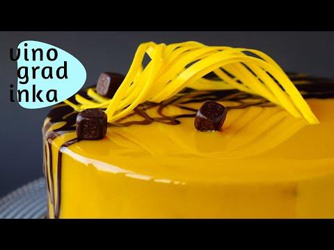 Зеркальная глазурь для торта и ВСЕ СЕКРЕТЫ | Гляссаж | Mirror Glaze | Vinogradinka