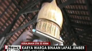Miniatur Bangunan Terbuat Dari Stik Es Krim - iNews Siang 12/05