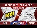 NaVi vs Secret EPICENTER XL Major 2018 Highlights Dota 2