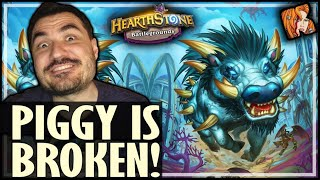 THIS PIGGY IS SO BROKEN! - Hearthstone Battlegrounds