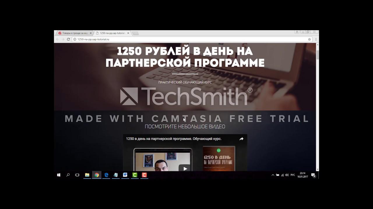 1250 рублей в день на партнерской программе отзывы