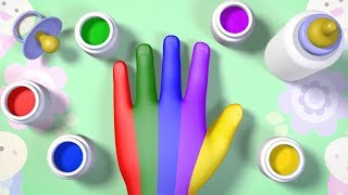 Finger Family Nursery Rhymes Song for Children Learn the Colors with Papy & Pepy