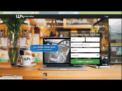How to sign up Wealth Affiliate in 50 Seconds?