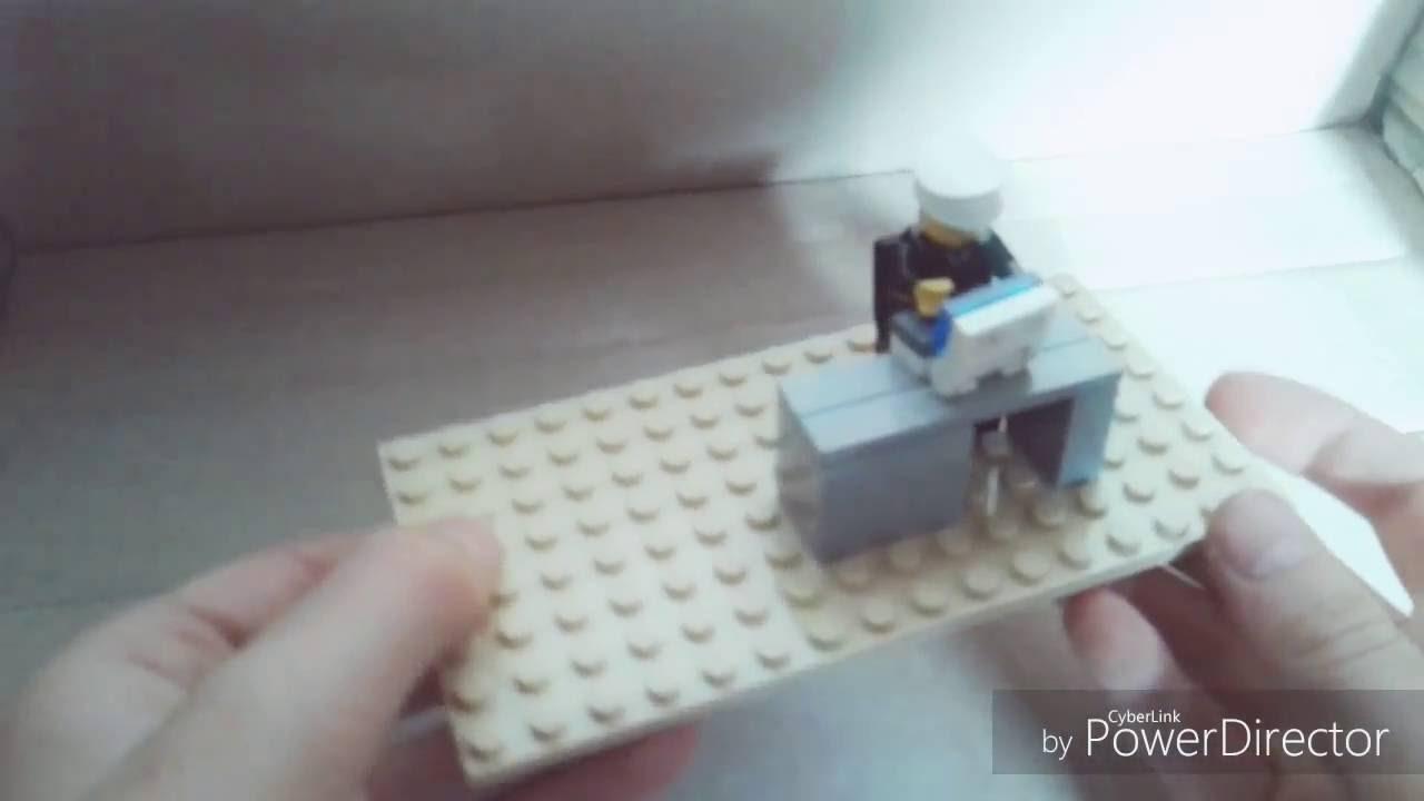 Lego bureau et siége tuto youtube