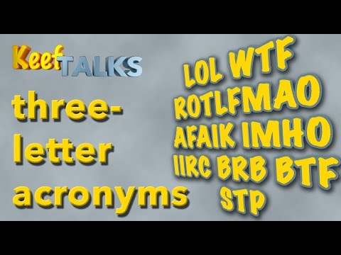 Three-letter Acronyms