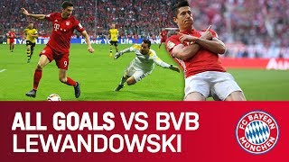 Robert Lewandowski - ALL goals vs Dortmund | FC Bayern