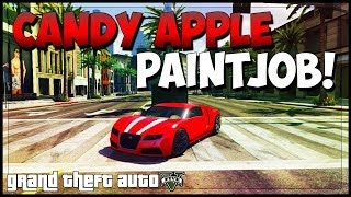 """GTA 5 Rare Paint Jobs"" - ""Candy Apple Red"" GTA 5 Modded Paint Jobs Online! (Secret Paints)"