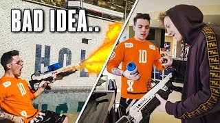 We Built a FLAME THROWER! ft. TFue