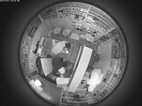 CC Camera footage of mobile shop theft