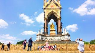 London Walk - The Albert Memorial in Kensington Gardens - England, UK